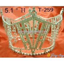 Fashion New Design Crown Full Round Pageant Tiara