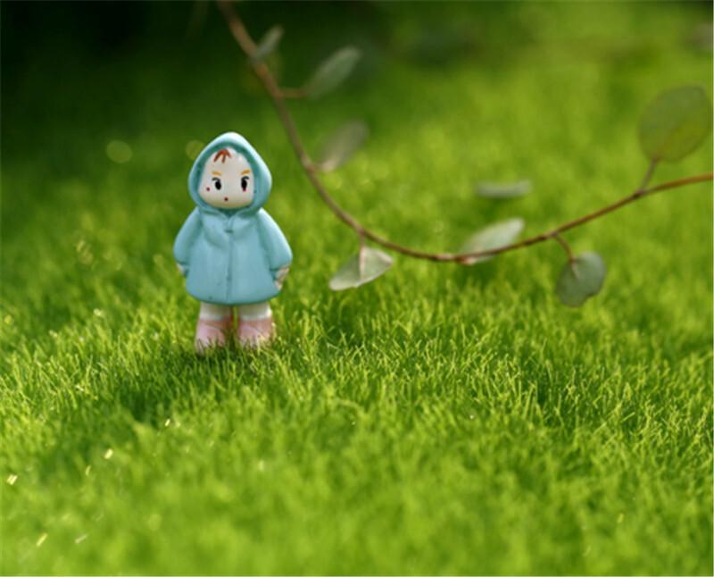 Artificial Lawn Grass Miniature Garden Ornament DIY Mushroom Craft Pot Fairy Fake Moss For Wedding Xmas Party Decor 15*15cm