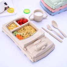 Truck Shape Wheat Straw Dinnerware Set