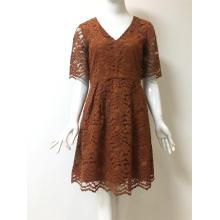 lace dress in color caramel