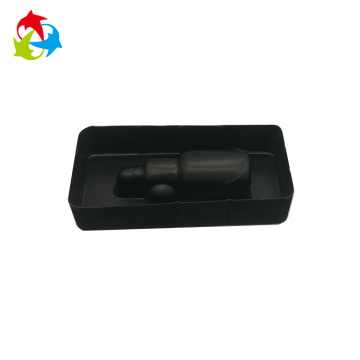 Flocking thermoformed plastic blister insert tray