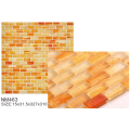 Vibrant orange elegant glass frosted mosaic tiles