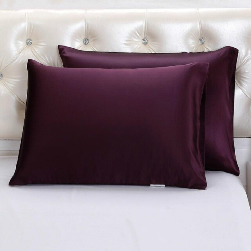 Purple Silk Pillowcase