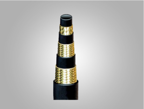 Two layer Steel Wire Braided Rubber Hose
