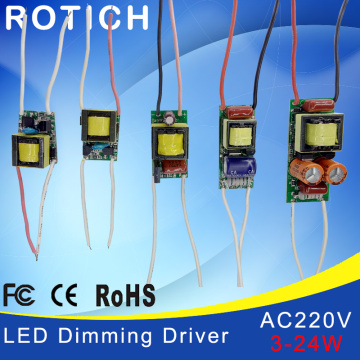 3W,5W,7W,8-15W,18-24W, LED driver power supply built-in constant current Lighting 110-265V Output 300mA Transforme