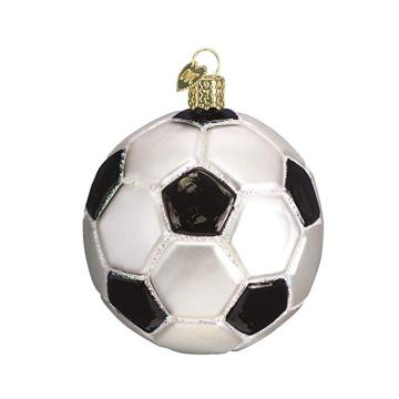 Customized Soccer Ball Glass Blown Ornaments Christmas Decoration
