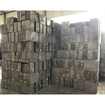 High purity extruded graphite block