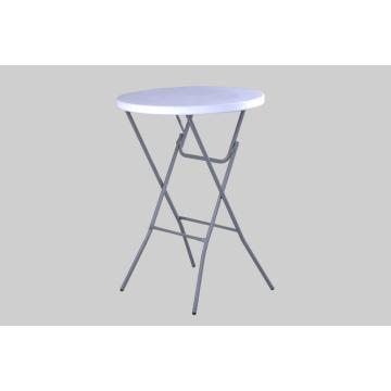 OUTDOOR DIA80CM BISTRO ROUND HDPE FOLDING TABLE