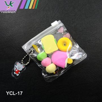 Novelty TPR Food Erasers Set 4-Pack