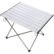 Aluminum lightweight portable folding travel table