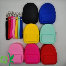 Backpack Shape Silicone Mini Coin Purse