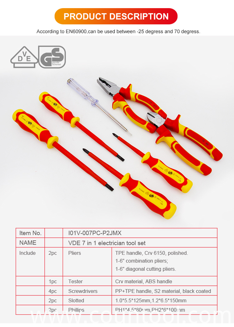 7pcs VDE tool set