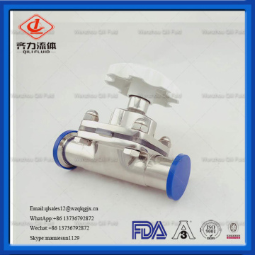 Sanitary Manual Diaphragm Valve For Control fluid motion