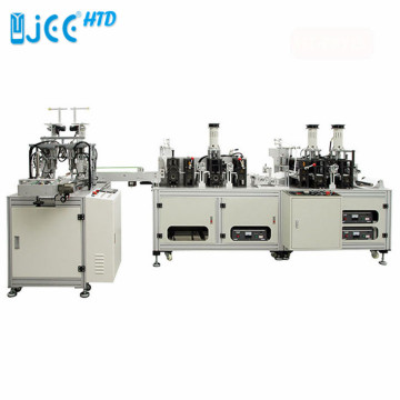 Automatic Anti-Dust Earloop KF94 Fish Mask Making Machine
