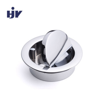 HJY recessed knobs mini chrome cabinet pulls