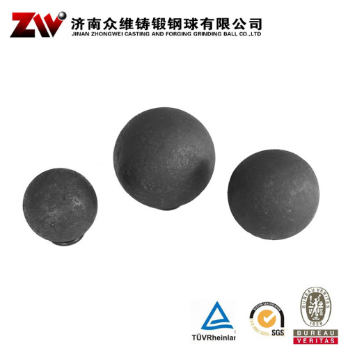 Hot rolling Forged grinding balls for cement 50mm