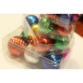 Assorted Color Christmas Ball Decoration with Round Designs