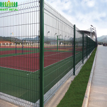 high quality PE coated Galvanized 3D bending fence
