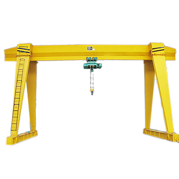 Mh type single girder gantry crane 10ton capacity