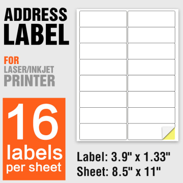 A4 Self Adhesive Labels Paper For Inkjet Printer