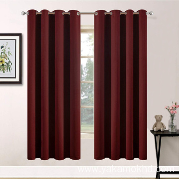 63 Inch Long Burgundy Red Curtains