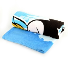 Disposable Printed Airline Coral Fleece Blankets