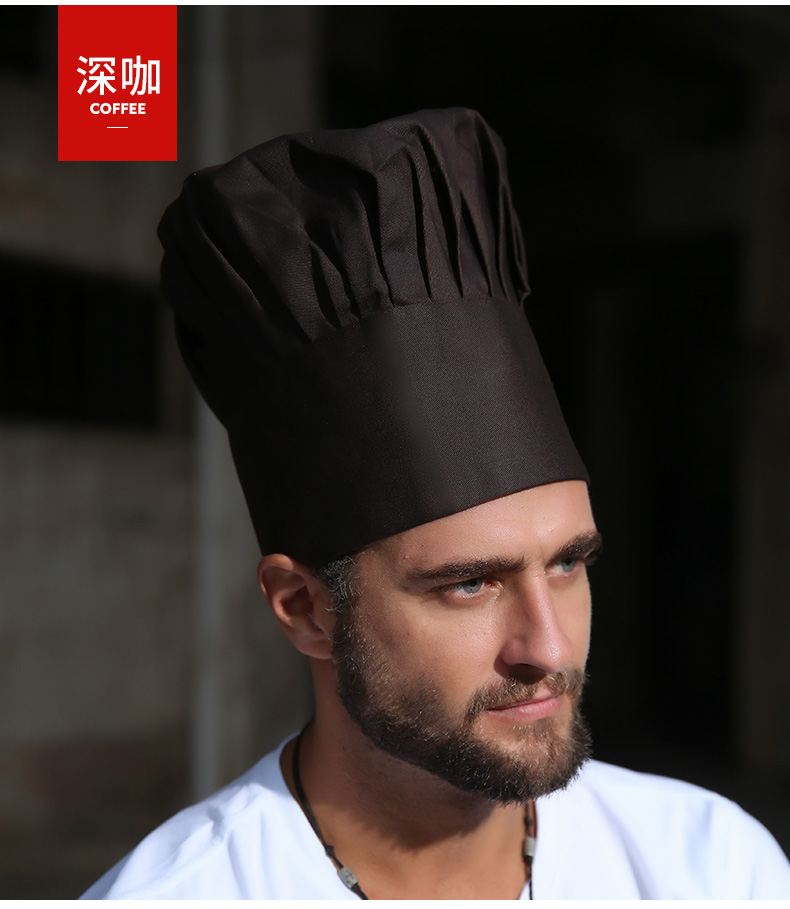 Chef hat male cotton white mushroom cap food factory catering school kitchen fume-proof work hat female