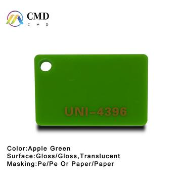 Cast Acrylic sheets Apple Green 10% translucent