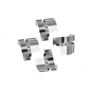 stainless steel napkin ring set 4pcs
