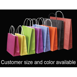 Colored Kraft Bags With Handles