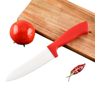 Ceramic blade chef knife with sheath