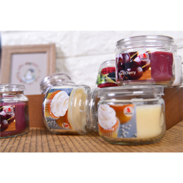 Customized Scented Glass Jar Candles