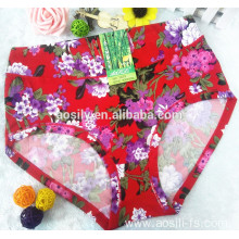 AS-5675 underwear factory print flowers high waist briefs