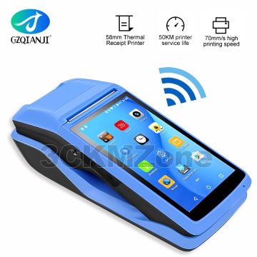 Protable Android 6.0 Rugged PDA Handheld POS Printer 58mm Terminal PDA 4G WiFi Bluetooth with Camera speaker Receipt Printer