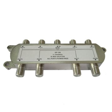 High Quality GSP-08A 8-Way Signal Satellite Splitter TV Antenna RF Coaxial Cable Splitter