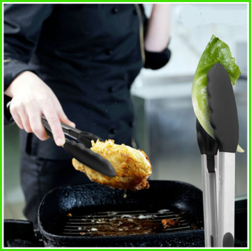 Mordern Design Silicone Kitchen Tongs For BBQ