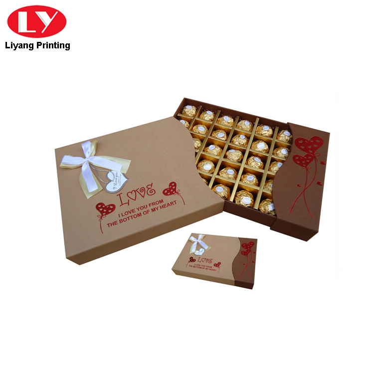 Gift Chocolate Kraft Paper Box
