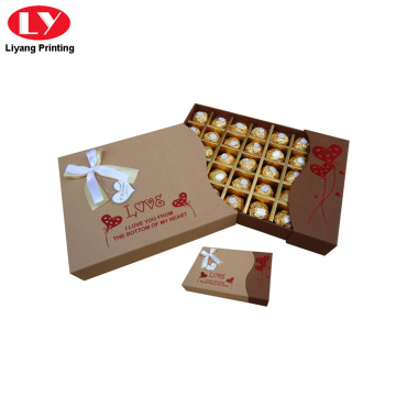 Gift packaging box chocolate truffle praline box