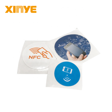 HF RFID Customized Logo NFC Stickers RFID Labels