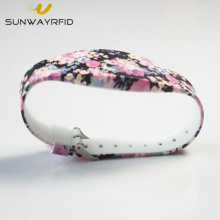 Flower Printing Silicone rfid wristband for Concert