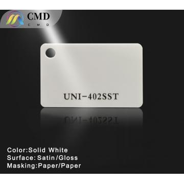 Solid White Acrylic Plexiglass Sheet Single sided satin