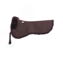 Brown Sheepskin Quilt Half Saddle Pad