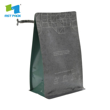 block bottom kraft paper bag with round bottom