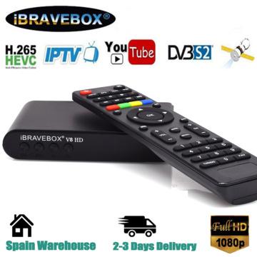 iBRAVEBOX V8 HD H2.65 Digital Satellite Receiver 1080P DVB-S2 Support USB Wifi Youtobee Worldwide Satellite TV Receiver