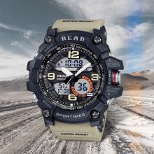 READ 90001 Men Military Watch Male Sports Watch Waterproof Digital Display Army Wristwatches Men Fashion Casual Quartz Watches