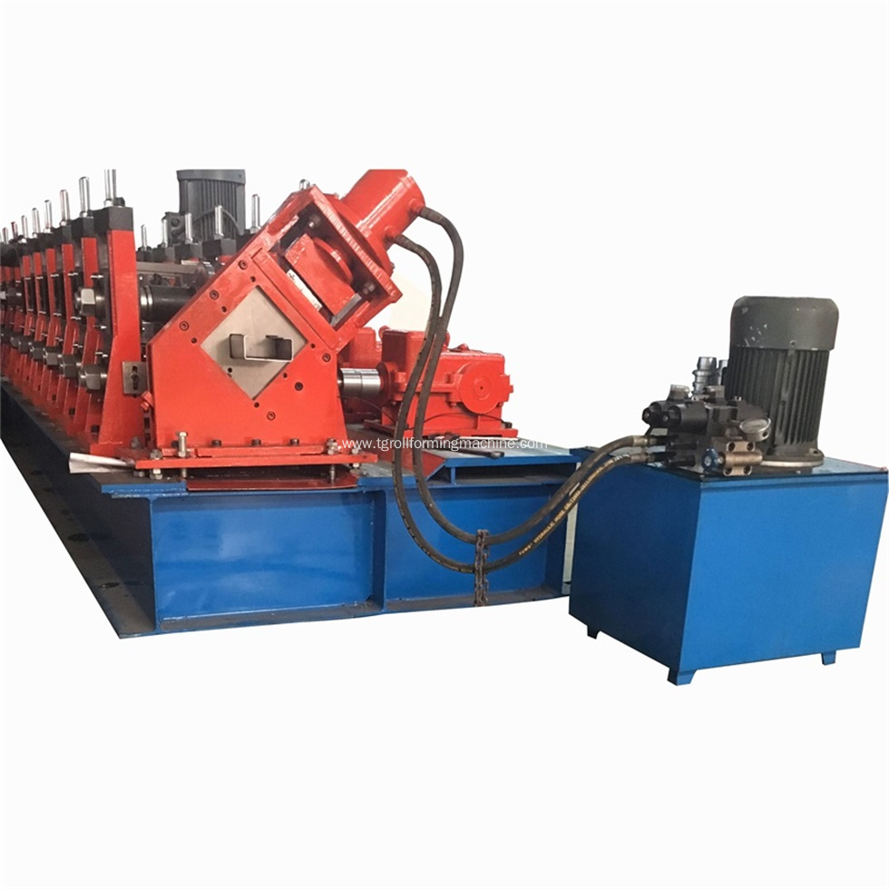 Automatic C80-300 Purlin Roll Forming Machine
