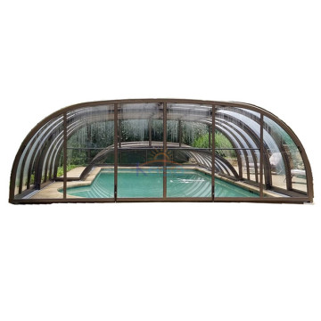 Weight Sliding Deck Pool Cover Polycarbonate