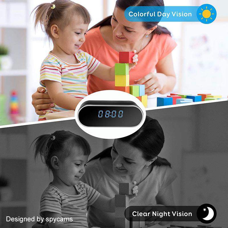 Wireless Nanny Clock 1080P WIFI Mini Camera P2P IP/AP Security Night Vision Motion Sensor suppor hidden TF card Remote Monitor