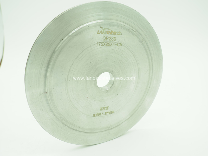Diamond grinding disc for furniture glass