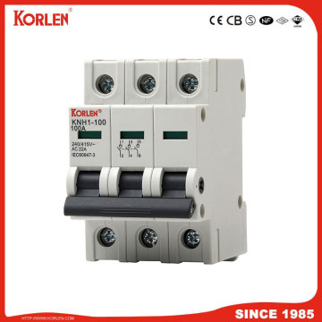 DIN Rail Isolator switch KORLEN KNH1 100A 1p